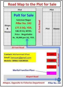 1600 Sq.ft Residential Plot for Sale in Chinthal Basthi, Hyderabad
