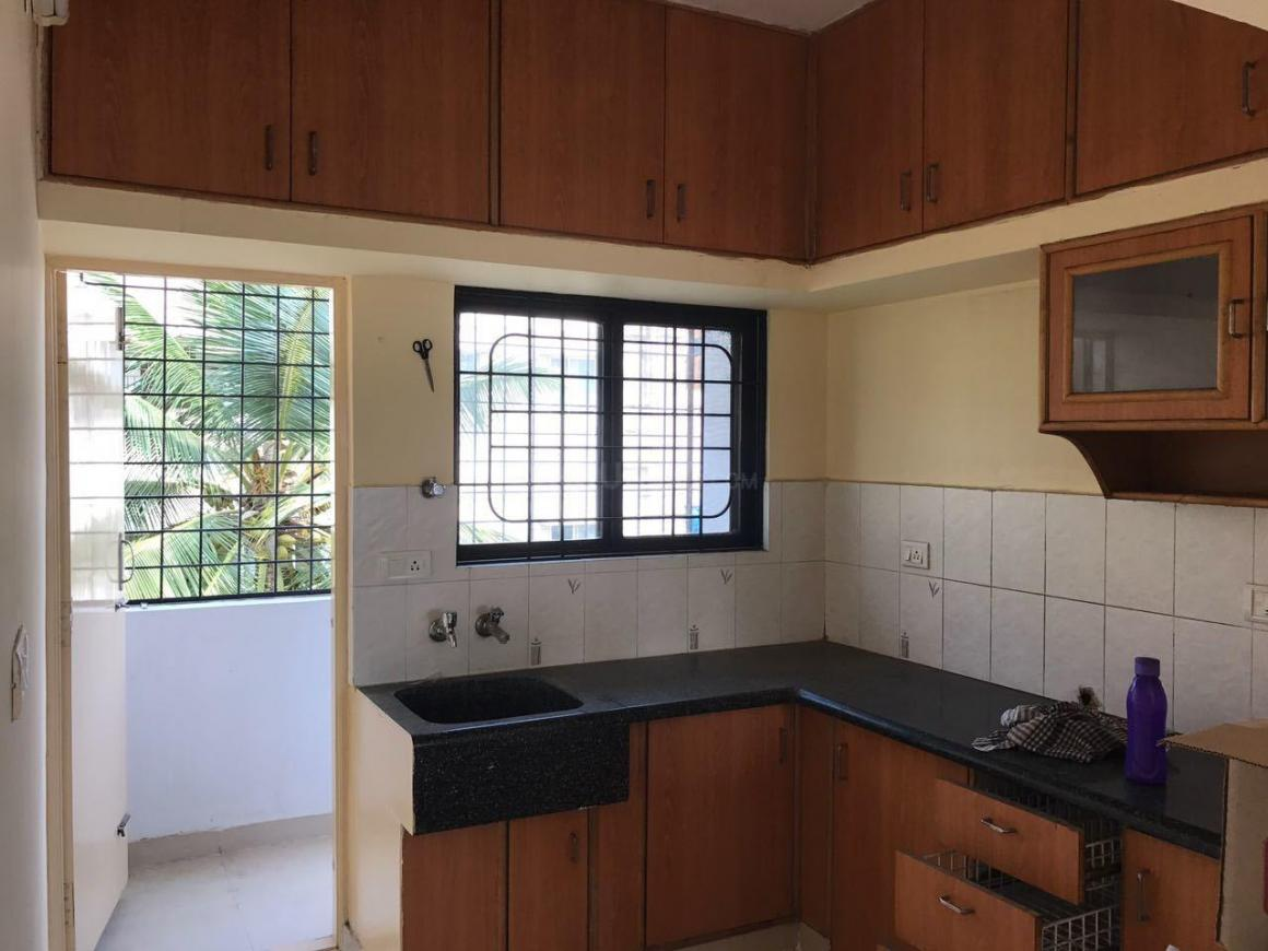 Kitchen Image of 1000 Sq.ft 2 BHK Independent Floor for rent in Thippasandra for 20000