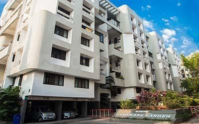 Gallery Cover Image of 650 Sq.ft 1 BHK Apartment for buy in Reputed Landmark Garden, New Kalyani Nagar for 5800000
