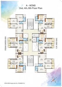 Gallery Cover Image of 1100 Sq.ft 2 BHK Apartment for buy in Gurukrupa Aramus Galassia, Ulwe for 8600000