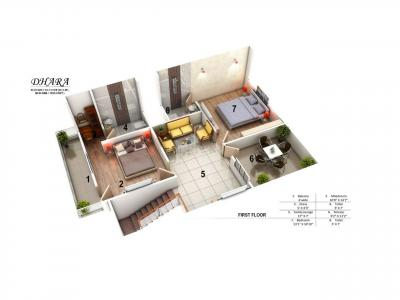 Gallery Cover Image of 1700 Sq.ft 4 BHK Villa for rent in Sahib Prithvi Courtyard, Misrod for 12500