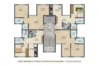 Gallery Cover Image of 704 Sq.ft 2 BHK Apartment for buy in Sun Shivaalik Park, Bhiwandi for 2371000