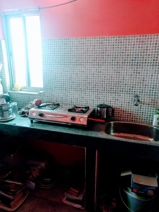 Kitchen Image of 344 Sq.ft 1 RK Apartment for buy in Nayabad for 1200000