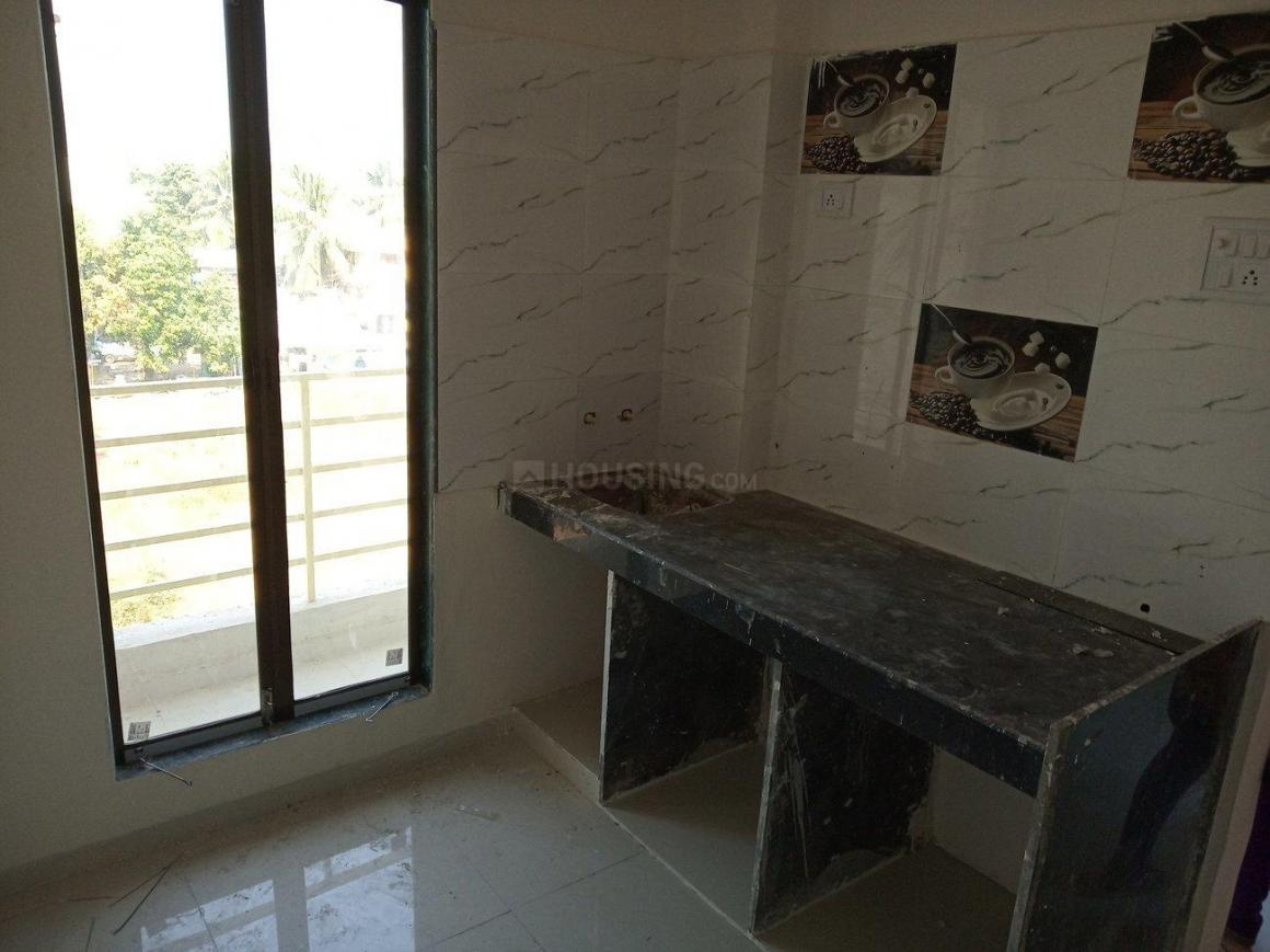 Kitchen Image of 600 Sq.ft 1 BHK Apartment for rent in Tembhode for 4500