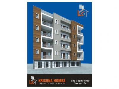 Gallery Cover Image of 900 Sq.ft 2 BHK Apartment for buy in Krishna Homes, Sector 104 for 2880000