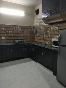 Kitchen Image of Girl PG Single Sharing Room in Malviya Nagar