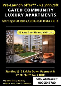Gallery Cover Image of 1400 Sq.ft 3 BHK Apartment for buy in Kollur for 4600000
