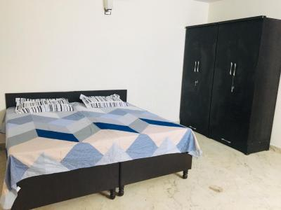 मालवीय नगर में गर्ल्स पीजी में बेडरूम की तस्वीर