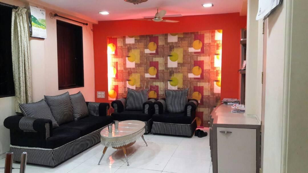 Living Room Image of 1350 Sq.ft 3 BHK Apartment for rent in Chembur for 60000