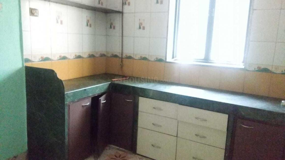 Kitchen Image of 600 Sq.ft 1 BHK Apartment for rent in Thane West for 16000
