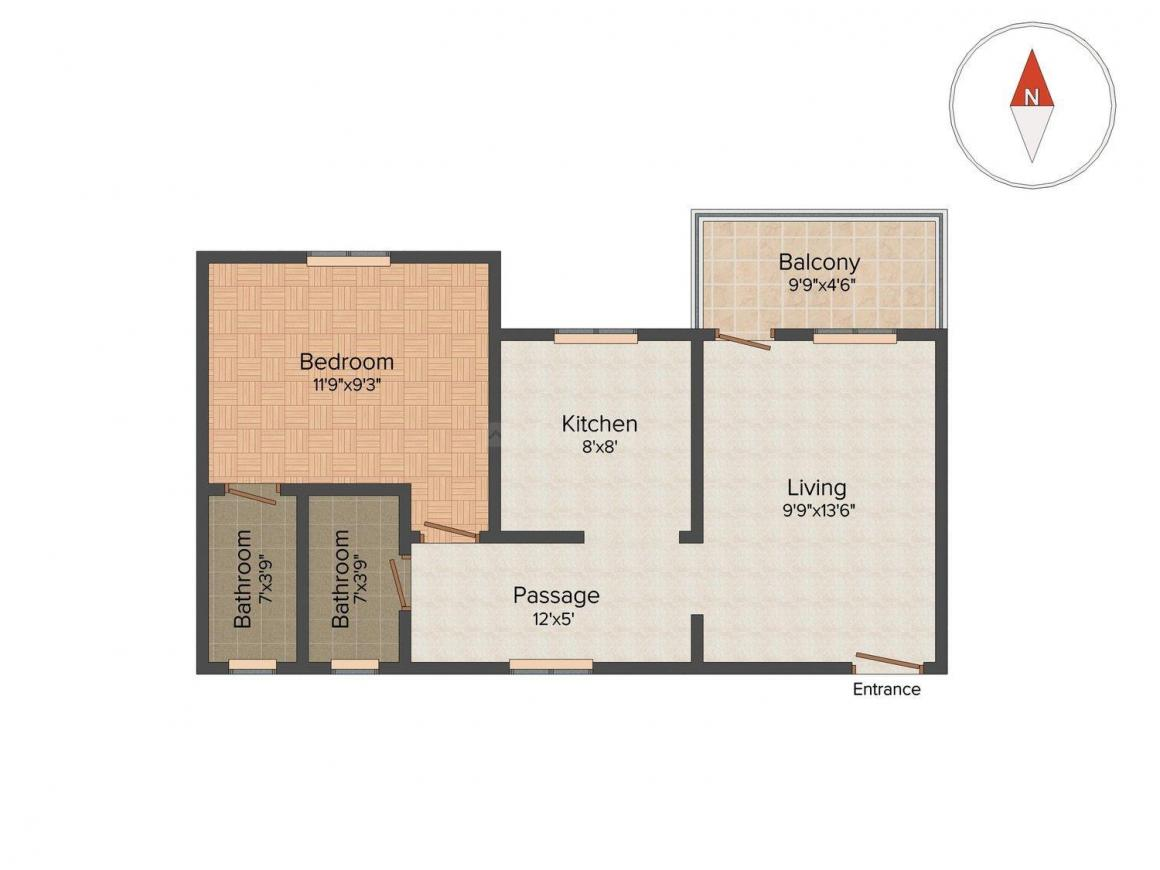 1 Bhk Floor Plan As Per Vastu Thefloors Co