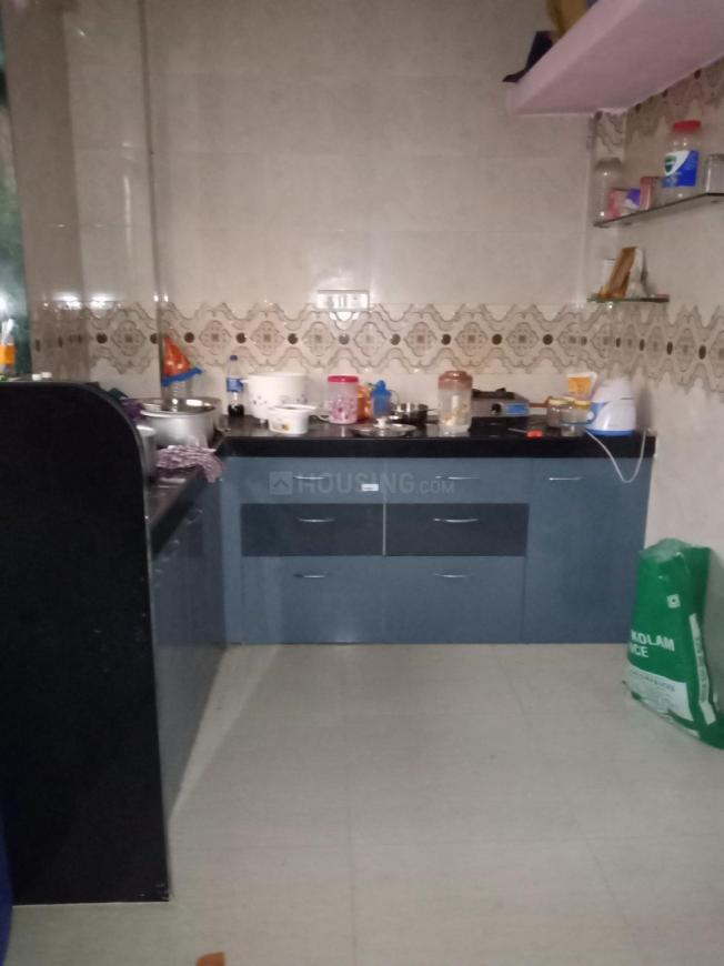 Kitchen Image of 620 Sq.ft 1 BHK Independent House for rent in Airoli for 15000