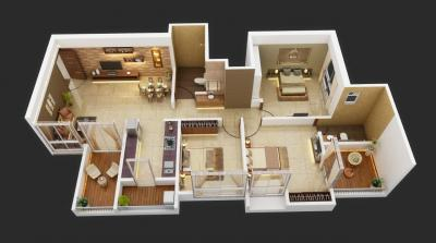 Gallery Cover Image of 1008 Sq.ft 3 BHK Apartment for buy in Legacy Lifespaces Vista, Rahatani for 8418000