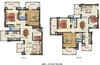 Gallery Cover Image of 1387 Sq.ft 2 BHK Apartment for buy in KLJ Greens, Sector 77 for 3800000