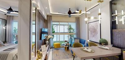 Gallery Cover Image of 550 Sq.ft 2 BHK Apartment for buy in Lodha Majiwada Tower 5, Thane West for 7000000