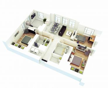 Gallery Cover Image of 1100 Sq.ft 2 BHK Apartment for buy in Kalasipalayam for 4200000