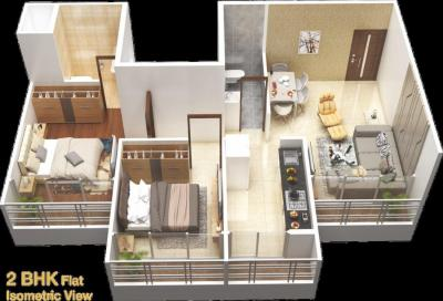 Gallery Cover Image of 625 Sq.ft 1 BHK Apartment for buy in Greater Khanda for 4000000