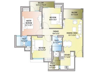 Gallery Cover Image of 1206 Sq.ft 3 BHK Apartment for buy in Noida Extension for 6000000