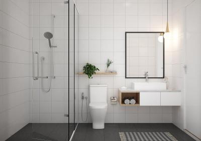 श्रीराम साउदर्न क्रेस्ट, कोननकुंते  में 9100000  खरीदें  के लिए 1300 Sq.ft 2 BHK अपार्टमेंट के बाथरूम  की तस्वीर