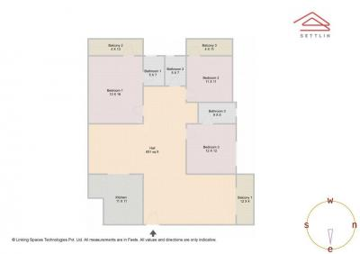 Gallery Cover Image of 1902 Sq.ft 3 BHK Apartment for buy in Gulmohar Villa, Munnekollal for 9000000