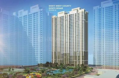 Gallery Cover Image of 1150 Sq.ft 2 BHK Independent Floor for buy in Dosti West County, Thane West for 9820000