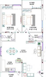 Gallery Cover Image of 1175 Sq.ft 2 BHK Apartment for buy in Bhadurpalle for 4430000