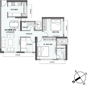 Gallery Cover Image of 1204 Sq.ft 3 BHK Apartment for buy in Atmosphere O2, Mulund West for 19100000
