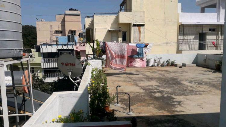 Terrace Image of 850 Sq.ft 2 BHK Independent House for rent in Nagarbhavi for 12000