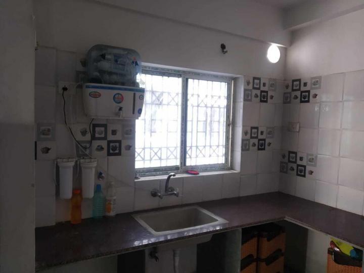 न्यू टाउन में शेल्टर लिविंग पीजी में किचन की तस्वीर