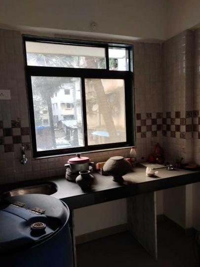 Kitchen Image of 400 Sq.ft 1 RK Apartment for rent in Thane West for 20000