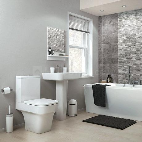 Common Bathroom Image of 735 Sq.ft 2 BHK Apartment for buy in Thane West for 4500000