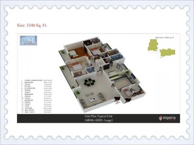 Gallery Cover Image of 1578 Sq.ft 3 BHK Apartment for buy in Imperia Esfera, Sector 37C for 8400000