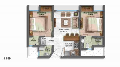 Gallery Cover Image of 505 Sq.ft 1 BHK Apartment for buy in Thane West for 5278940