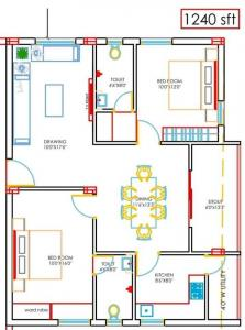 Gallery Cover Image of 1150 Sq.ft 2 BHK Apartment for buy in Pragathi Nagar for 4000000
