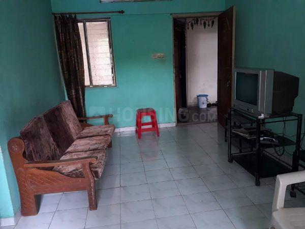 Living Room Image of 600 Sq.ft 1 BHK Apartment for rent in Thane West for 16000