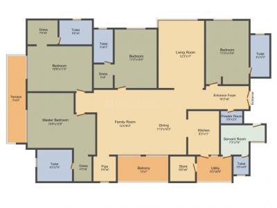 Floor Plan Image of 3250 Sq.ft 4 BHK Apartment for buy in Adani Shantigram, Vaishno Devi Circle for 14700000