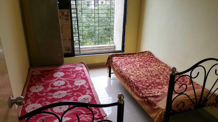कॉपर खैरने में क्वालिटी पेइंग गेस्ट सर्विस के बेडरूम की तस्वीर