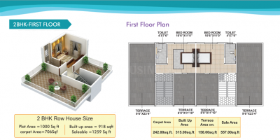 Gallery Cover Image of 1095 Sq.ft 3 BHK Villa for buy in Purple Touch Phase 3, Lohegaon for 5050000
