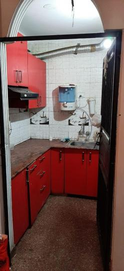 Kitchen Image of 500 Sq.ft 1 BHK Independent Floor for buy in Neb Sarai for 1800000