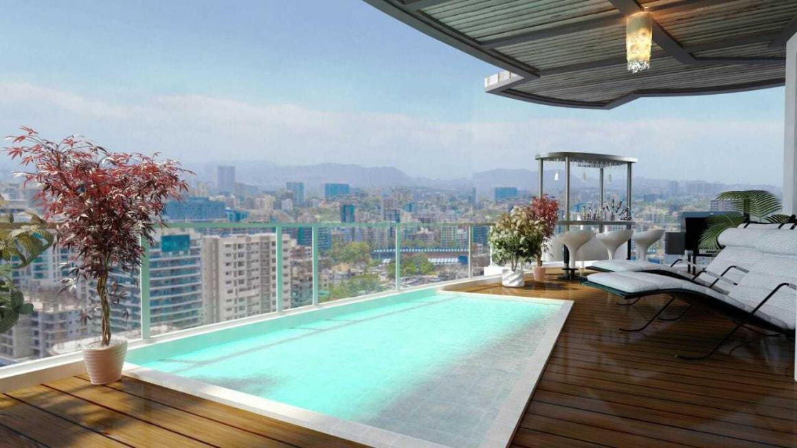 Swimming Pool Image of 635 Sq.ft 1 BHK Apartment for buy in Kandivali West for 8400000