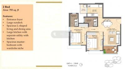 Gallery Cover Image of 1089 Sq.ft 2 BHK Apartment for buy in Mohammed Wadi for 9000000