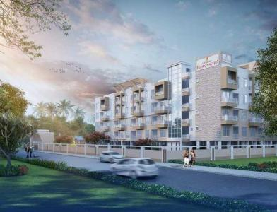 Gallery Cover Image of 561 Sq.ft 1 BHK Apartment for buy in Sowparnika Indraprastha, Kacharakanahalli for 2972000