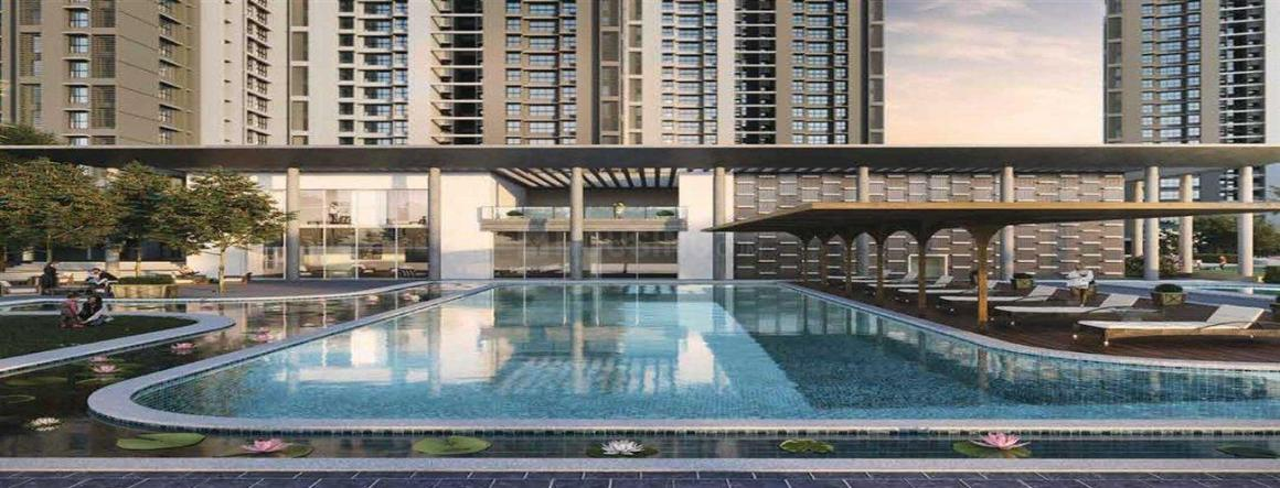 Swimming Pool Image of 563 Sq.ft 1 BHK Apartment for buy in Kalyan West for 4300000