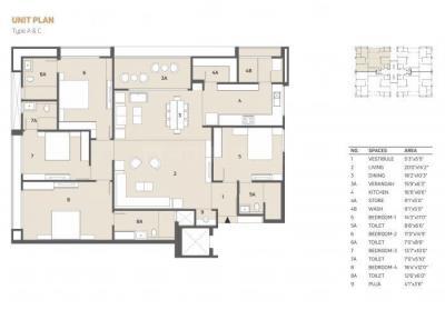 Floor Plan Image of 3272 Sq.ft 4 BHK Apartment for buy in Shivalik Avenue, Bodakdev for 20300000