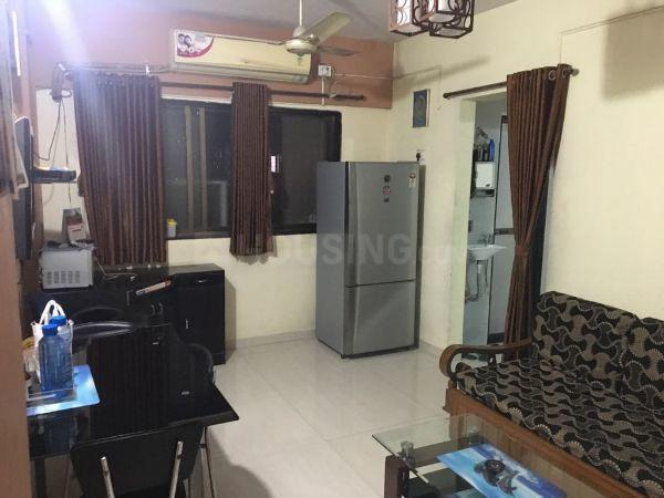 Living Room Image of 580 Sq.ft 1 BHK Independent Floor for rent in Airoli for 26000