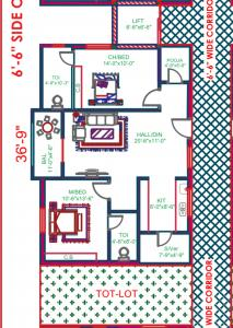 Gallery Cover Image of 1200 Sq.ft 2 BHK Apartment for buy in Puppalaguda for 5800000