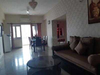 Gallery Cover Image of 1500 Sq.ft 3 BHK Apartment for rent in NBCC Vibgyor Towers, New Town for 45000