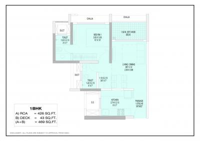 Gallery Cover Image of 780 Sq.ft 1 BHK Apartment for buy in Juinagar for 9000000