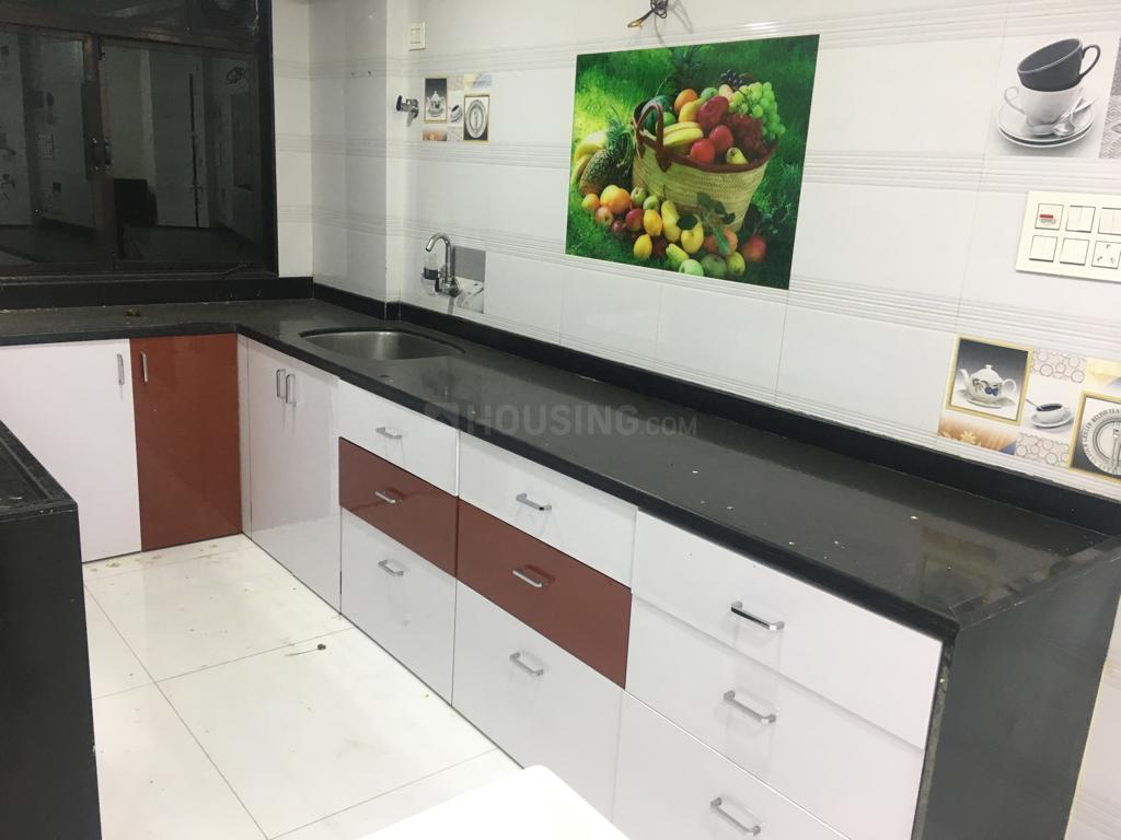 Kitchen Image of 980 Sq.ft 2 BHK Apartment for rent in Kopar Khairane for 30000