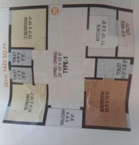 Gallery Cover Image of 1425 Sq.ft 3 BHK Apartment for buy in Adibhatla for 3420000